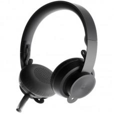 Наушники гарнитура накладные Bluetooth Logitech Zone Graphite Black (981-000798)