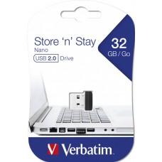 Флешка USB 32GB Verbatim Store n Stay Nano Black (98130)