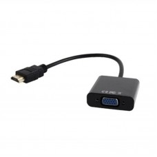 Адаптер HDMI-VGA A Cablexpert 0.15m Black