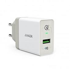 Адаптер сетевой Anker PowerPort+ 1 1USB 3A QC3.0 PowerIQ White (A2013321)