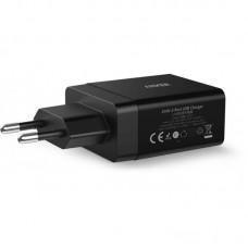 Адаптер сетевой Anker PowerPort 2 2USB 2.4A V3 Black (A2021L11)