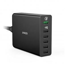 Адаптер сетевой Anker PowerPort 60W 6USB 3A QC3.0 PowerIQ V3 Black (A2063L11)