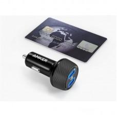 Адаптер автомобильный Anker PowerDrive Speed 2 2USB 3A QC3.0 V3 Black (A2228H11)