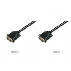 Кабель Assmann DVI-DVI-D 24+1 pin dual link 3m Black (AK-320108-030-S)
