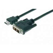 Кабель HDMI-DVI-D Assmann 2m Black (AK-330300-020-S)
