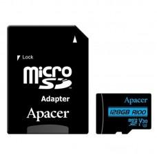 Карта памяти MicroSDXC 128GB UHS-I U3 Class 10 Apacer + Adapter SD (AP128GMCSX10U7-R)