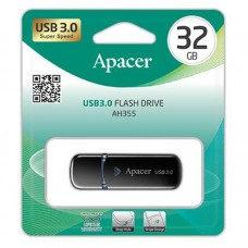 Флешка USB 3.0 32GB Apacer AH355 Black (AP32GAH355B-1)
