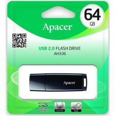 Флешка USB 2.0 64GB Apаcer AH336 Black (AP64GAH336B-1)