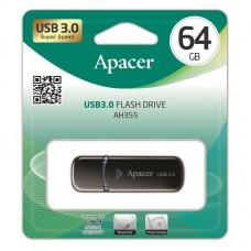 Флешка USB 3.0 64GB Apacer AH355 Black (AP64GAH355B-1)