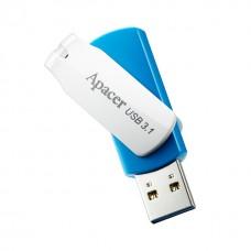 Флешка USB 3.1 64GB Apаcer AH357 Blue/White (AP64GAH357U-1)