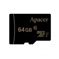 Карта памяти MicroSDXC 64GB UHS-I Class 10 Apacer + Adapter SD (AP64GMCSX10U1-R)