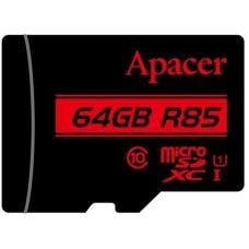 Карта памяти MicroSDXC 64GB UHS-I Class 10 Apacer + Adapter SD (AP64GMCSX10U5-R)