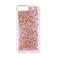 Чехол накладка TPU Armorstandart Liquid Moving Gliter для iPhone 8 7 Plus Pink/Stars (ARM53017)