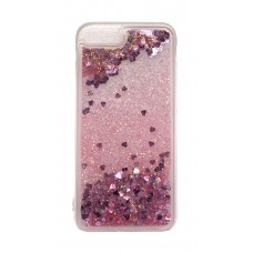Чехол накладка TPU Armorstandart Liquid Moving Gliter для iPhone 8 7 Plus Pink/Violet Heartsk (ARM53