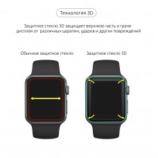 Защитное стекло Armorstandart Full Glue для Apple Watch Series 4 5 40mm Black (ARM53469)
