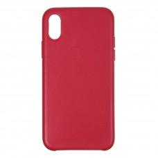 Чехол накладка Armorstandart PU Leather для iPhone XS X Berry (ARM53579)