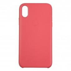 Чехол накладка PU Armorstandart Leather для iPhone XR Peony/Pink (ARM53601)