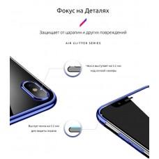 Чехол накладка TPU Armorstandart Air Glitter для Huawei Honor 10 Lite Aurora Blue (ARM53993)