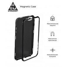 Чехол бампер Metal Armorstandart Magnetic Case 1 для Huawei P Smart 2019 Transparent/Black (ARM5433)