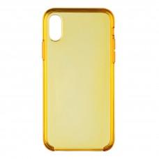Чехол накладка PC Armorstandart Clear для iPhone XS X Yellow (ARM54935)