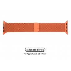 Браслет Metal Armorstandart Milanese Loop для Apple Watch 38mm 40mm Orange (ARM55248)