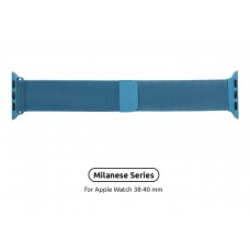 Браслет Metal Armorstandart Milanese Loop для Apple Watch 38mm 40mm Porcelian Blue (ARM55257)