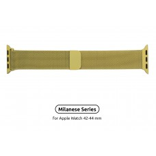 Браслет Metal Armorstandart Milanese Loop для Apple Watch 42mm 44mm Yellow (ARM55261)