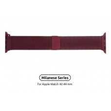 Браслет Metal Armorstandart Milanese Loop для Apple Watch 42mm 44mm Burgundy (ARM55263)