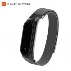 Браслет металлический Armorstandart Milanese Magnetic Band для Xiaomi Mi Band 4 3 Black (ARM55540)