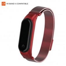 Браслет металлический Armorstandart Milanese Magnetic Band для Xiaomi Mi Band 4 3 Red (ARM55541)