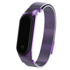 Браслет металлический Armorstandart Metal Milanese Magnetic для Xiaomi Mi Band 3 4 Purple (ARM55922)