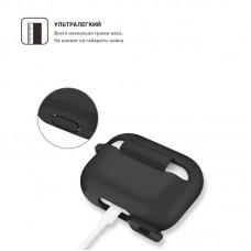 Чехол TPU Armorstandart Silicone для Apple Airpods Pro Black (ARM56081)