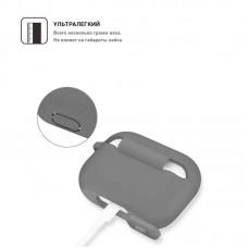 Чехол TPU Armorstandart Silicone для Apple Airpods Pro Light Grey (ARM56090)