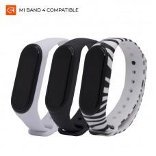 Ремешок TPU Armorstandart Silicone для Xiaomi Mi Band 3 4 Wild Zebra Black/Zebra/White 3шт