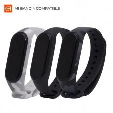 Ремешок TPU Armorstandart Silicone для Xiaomi Mi Band 3 4 Tephra Black/Khaki Grey/Khaki White 3шт