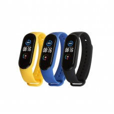 Ремешок TPU Armorstandart для Xiaomi Mi Band 5 (3шт) Black/Royal Blue/Yellow (ARM57621)