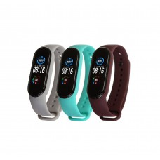 Ремешок TPU Armorstandart для Xiaomi Mi Band 5 (3шт) Light Grey/Marsala/Mint (ARM57624)
