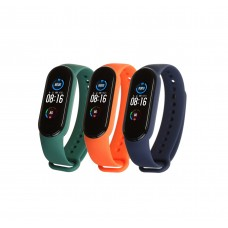 Ремешок TPU Armorstandart для Xiaomi Mi Band 5 (3шт) Green/Midnight Blue/Orange (ARM57625)