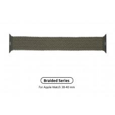 Ремешок Nylon Armorstandart Braided Solo Loop для Apple Watch 38mm 40mm Inverness Green Size 6 (144 mm) (ARM58065)
