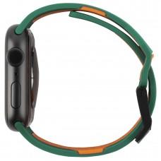 Ремешок TPU UAG Civilian Watch Strap для Apple Watch 38mm 40mm Green/Orange