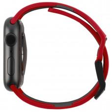 Ремешок TPU UAG Civilian Watch Strap для Apple Watch 38mm 40mm Red/Black