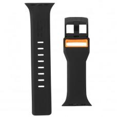 Ремешок TPU UAG Civilian Watch Strap для Apple Watch 42mm 44mm Black/Orange