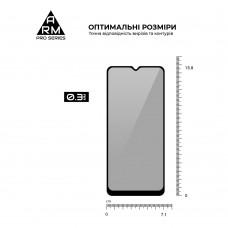 Защитное стекло Armorstandart Full Glue Anti Spy для Samsung A02 (A022) Black (ARM58646)