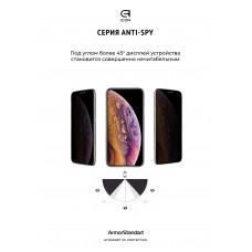 Защитное стекло Armorstandart Full Glue Anti Spy для Samsung A02s (A025) Black (ARM58647)