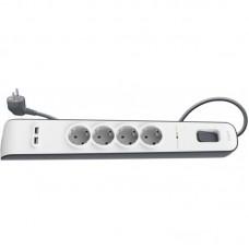 Сетевой фильтр Belkin Surge Protectors (BSV401vf2M) 4 розетки 2USB 2m White