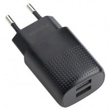 Адаптер сетевой Puridea C03 2USB 2.4A Black