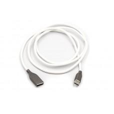 Кабель USB-Type-C PowerPlant 1m White