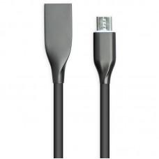Кабель USB-MicroUSB PowerPlant 2m Black (CA911233)