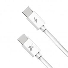 Кабель Grand-X USB Type-C-Type-C PD 48W 1m White (CC-07)