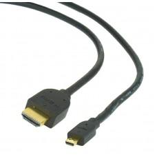 Кабель Gembird HDMI-microHDMI v.2.0 3m Black (CC-HDMID-10)